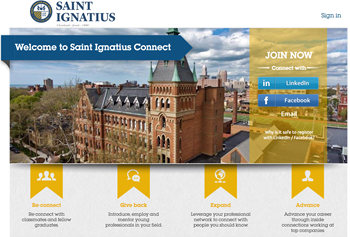 Saint Ignatius Connect Website
