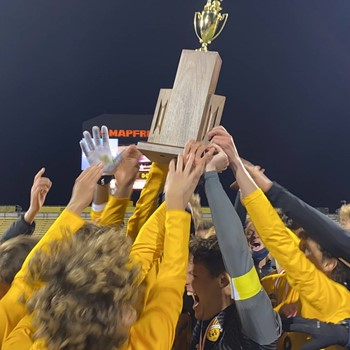 CHEERS TO 10! Soccer Wins State Title